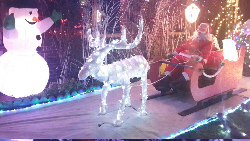 Un traîneau grandeur réelle pour Noël