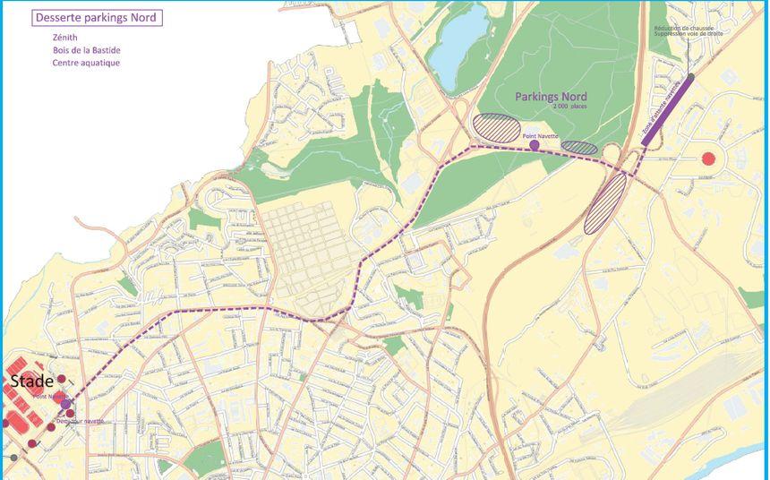 Plan de circulation autour du Stade de Beaublanc le dimanche 5 janvier à l'occasion du match Trélissac-OM