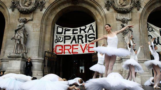 La grève à l'Opéra de Paris