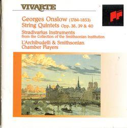 ONSLOW Quintette a cordes en ut min op 38 : Finale - ENSEMBLE DE CHAMBRE ARCHIBUDELLI ET SMITHSONIAN