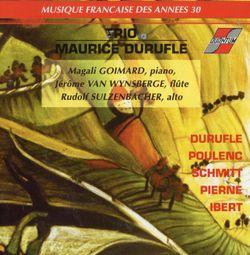Prelude recitatif et variations op 3 : thème et variations - pour piano, flute et alto - MAGALI GOIMARD