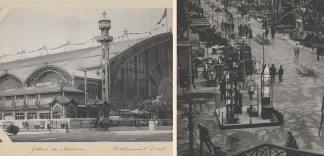 Le palais des machines de l'exposition universelle de 1889, extérieur et intérieur - Hippolyte Blancard