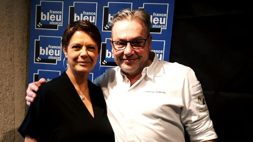 Dominique RADMACHER, chef de la Winstub Chez Yvonne à Strasbourg avec Isabelle Chalaye