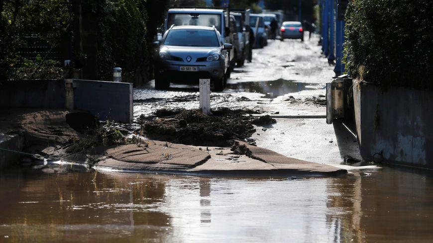 Photo d'illustration des inondations à Mandelieu-la-Napoule