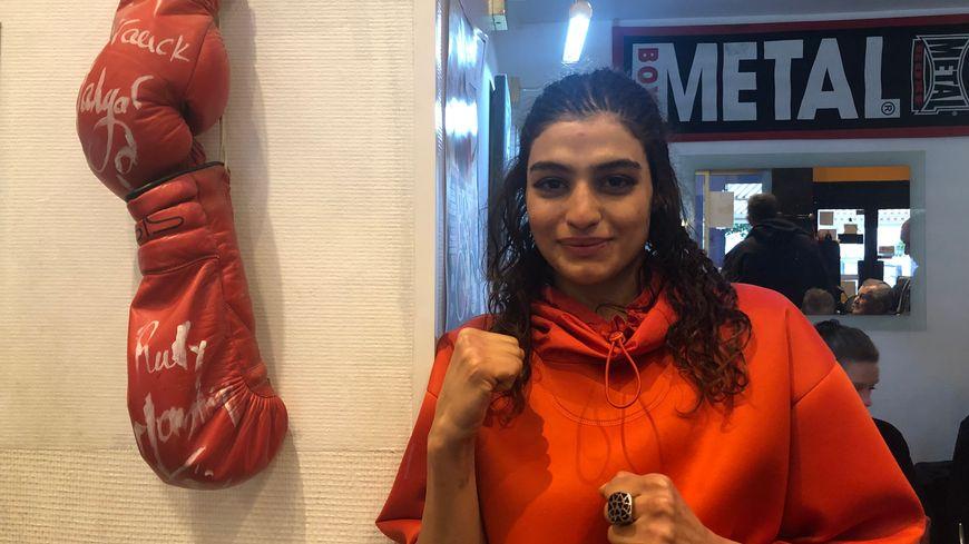 Sadaf Khadem, première boxeuse iranienne à participer à un combat officiel (Royan, Charente-Maritime)