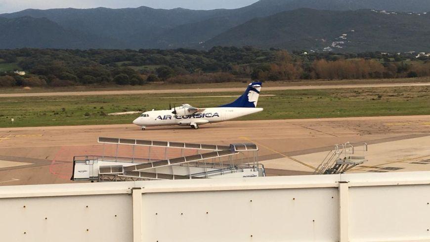 Vol d'essai réussi pour cet ATR d'Air Corsica, l'aéroport d'Ajaccio de nouveau opérationnel