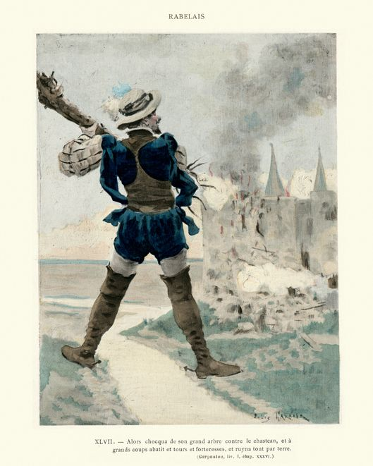 Comment Gargantua a démoli le château au Gué de Vède, et comment ils ont dépassé le gué.