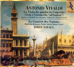 L'estro armonico op 3 : Concerto en re min op 3 n°11 RV 565 : Allegro, Adagio e spiccato - pour 2 violons viole de gambe cordes et basse continue - MANFRED KRAEMER