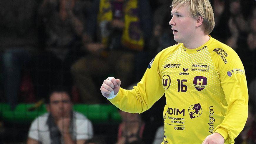Le gardien du HBC Nantes Emil Nielsen