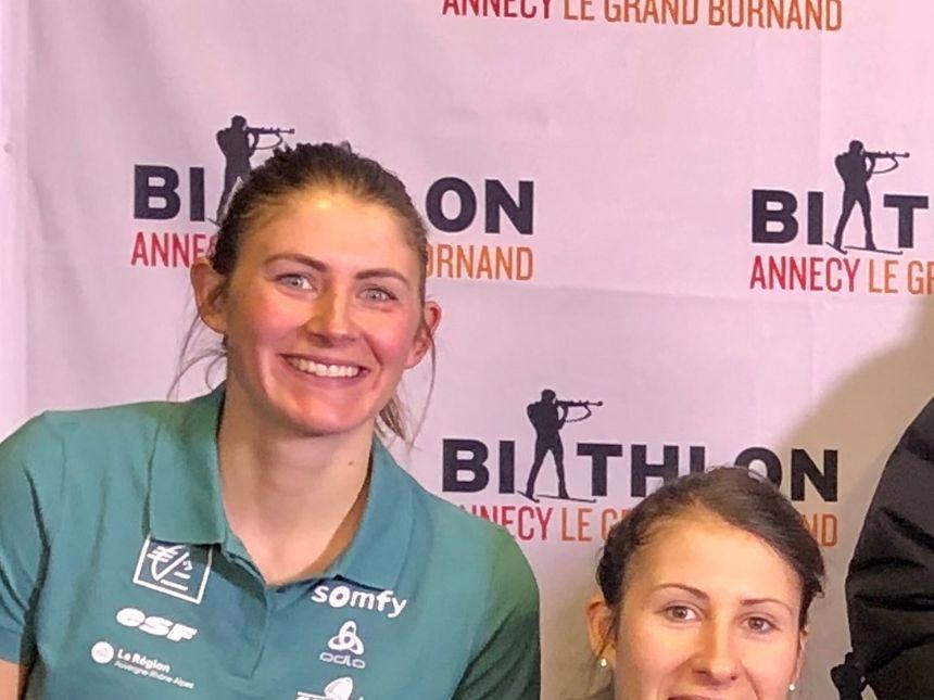 Justine Braisaz de retour au Grand-Bornand.
