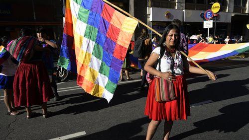 Le whipala, symbole des révoltes latino-américaines