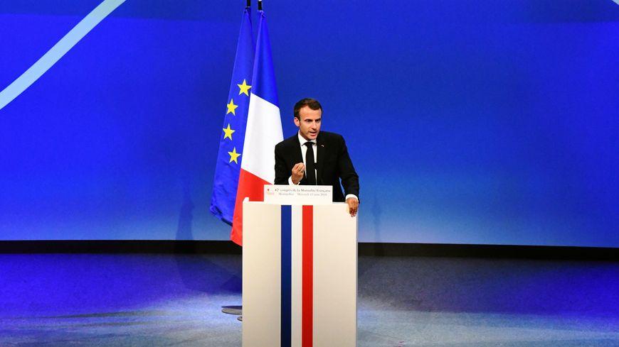 Emmanuel Macron au congrès de la mutualité au Corum de Montpellier (13/06/2018)