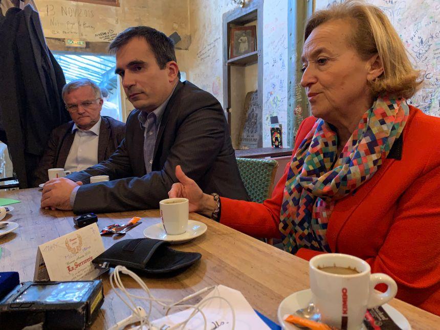 Michel Savattier, Thierry Alquier et Jacqueline Daigre