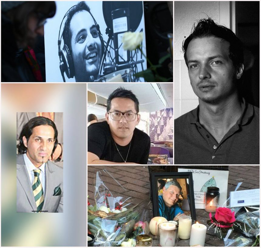 Antonio Megalizzi, Bartek, Kamal Naghchband, Anupong Suebsamarn et Pascal Verdenne.