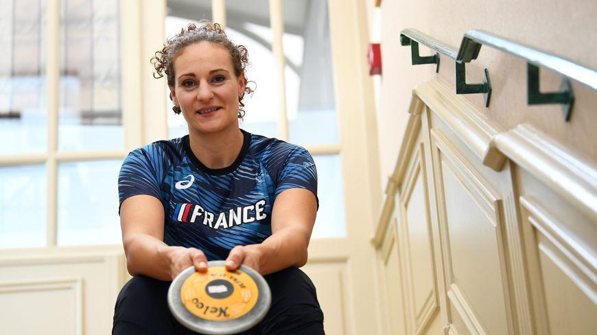 Mélina Robert-Michon au centre Thalasso à ST Malo avec l'équipe de France d'Athlétisme novembre 2019