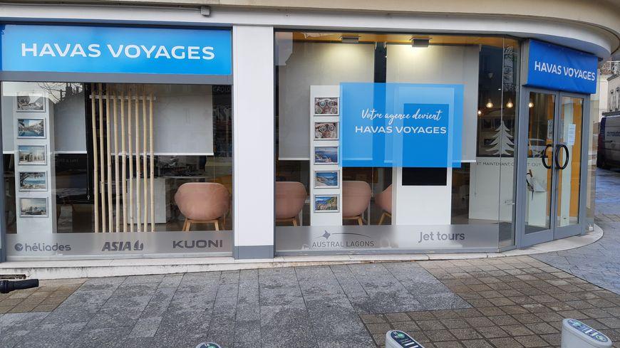 La nouvelle agence Havas Voyages située place Jean Moulin à Laval.