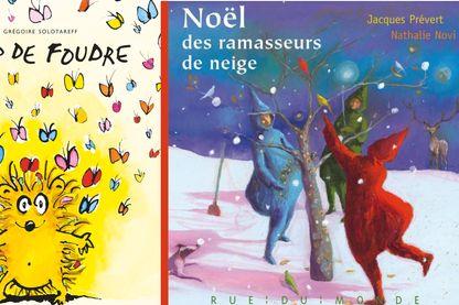 """Couvertures de """"Le Noël des ramasseurs de neige"""" & """"Coup de foudre"""""""