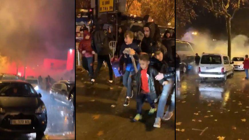 Des captures d'écran de plusieurs vidéos de supporters sur Twitter.