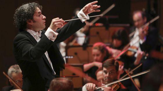 Gustavo Dudamel à la tête du Los Angeles Philharmonic en 2016