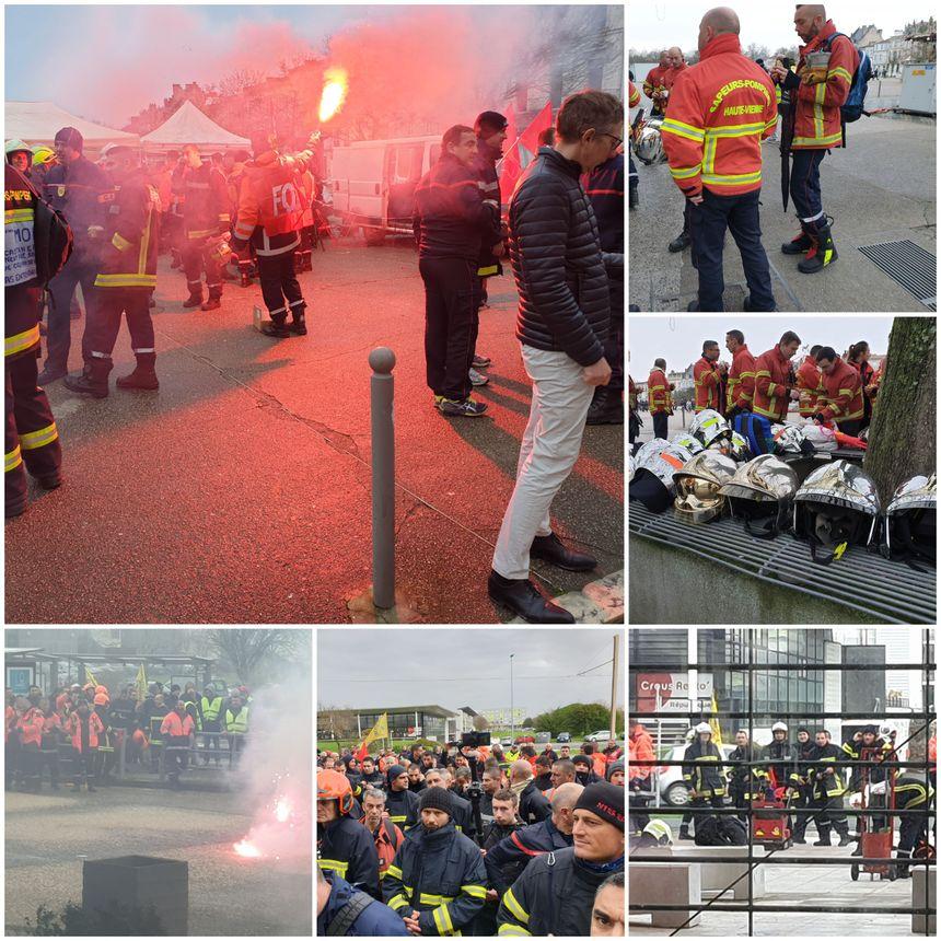 400 pompiers manifestent à La Rochelle