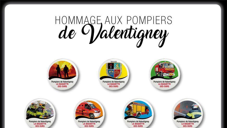 Fèves en hommage aux Pompiers de Valentigney