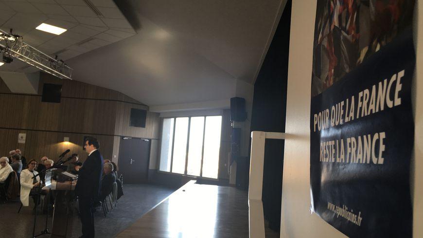 Christian Jacob devant les militants Les Républicains du Puy-de-Dôme