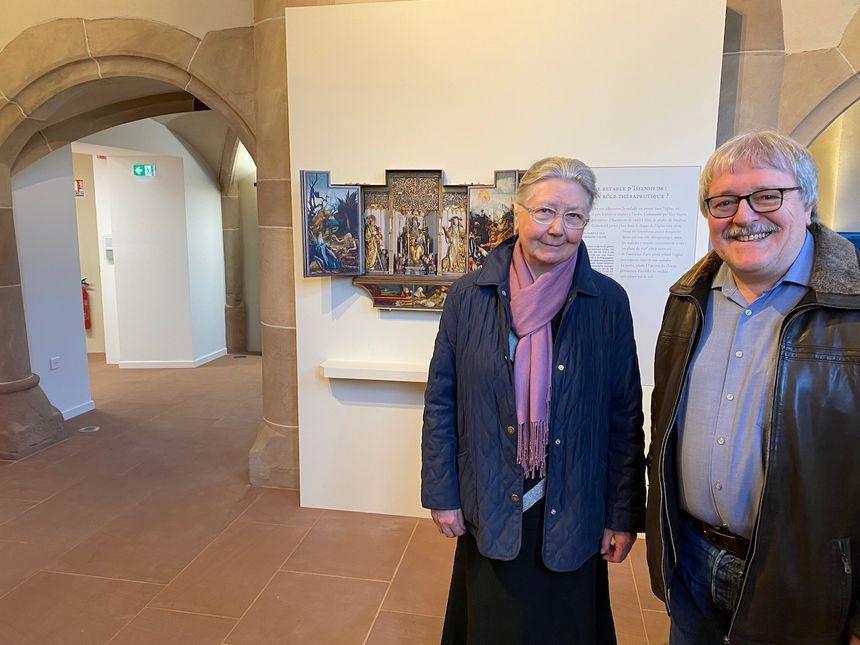 Issenheim, soeur Monique Tingeuly et Michel Hearing