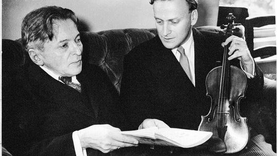 Georges Enesco et Yehudi Menuhin en 1955