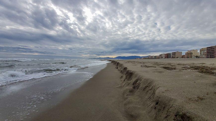 L'épisode méditerranéen Gloria commence à se montrer sur le littoral des Pyrénées-Orientales : le Canet-en-Roussilonn le 19 janvier.