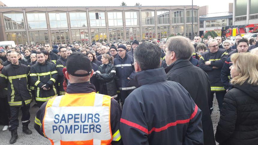 Marche contre les violences faites aux pompiers, le 17 janvier 2020 à Strasbourg