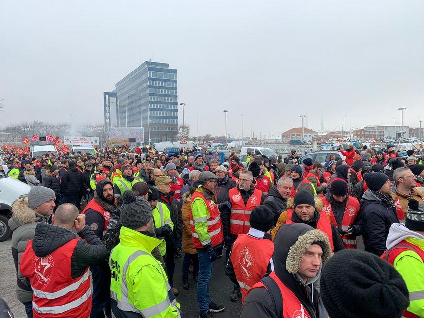 Beaucoup de manifestants au Havre