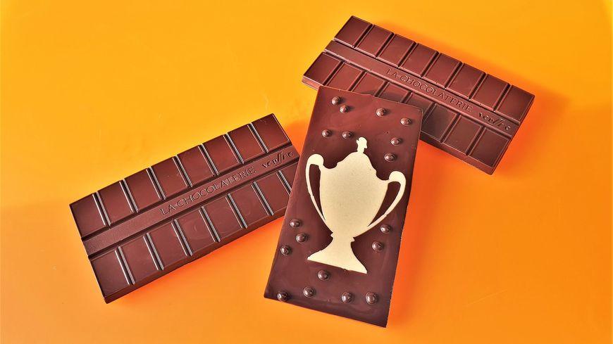 """Les chocolats """"ASM Belfort"""" d'Eric Vergne"""