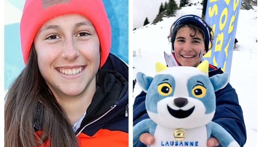 Ce vendredi à Lausanne (Suisse), les Haut-Savoyardes Caitlin McFarlane (à gauche ) et Margot Ravinel ont décroché des médailles d'argent et de bronze aux JOJ 2020.