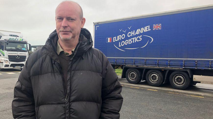 Bruno Belliard a investi dans un nouveau logiciel de déclaration des douanes pour continuer à faire traverser ses camions après le Brexit.