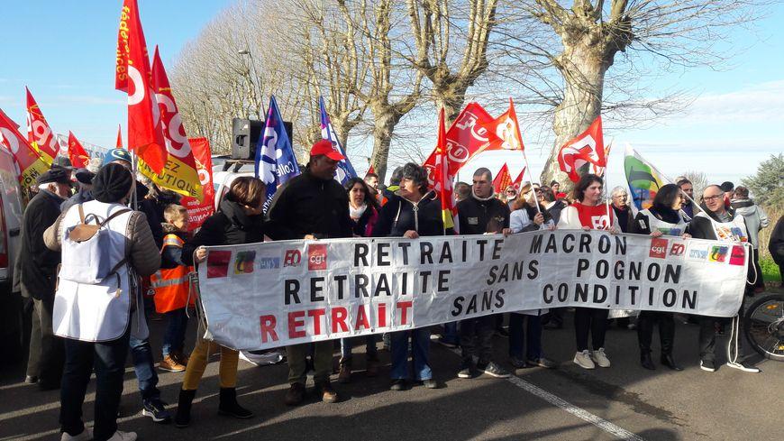 Une mobilisation un peu plus importante que celle du 17 décembre dernier à Mont-de-Marsan