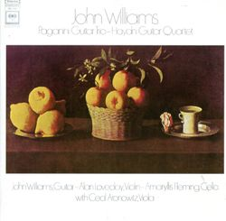 Quatuor à cordes en Mi Maj op 2 n°2 HOB III : 8 : Menuetto - pour guitare et trio à cordes - JOHN WILLIAMS