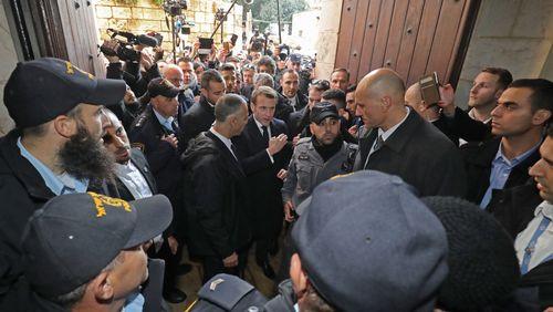 A Jérusalem, Emmanuel Macron fait du Chirac