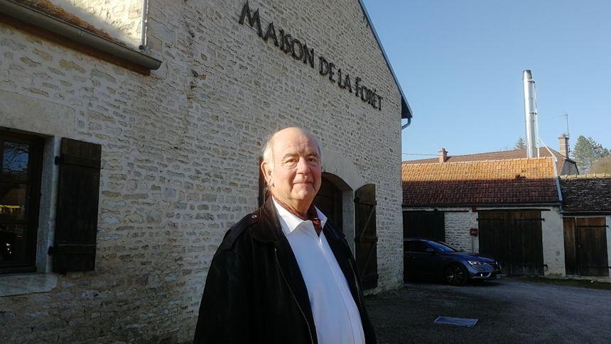 Raoul du Parc , le président de la maison de la forêt à Leuglay
