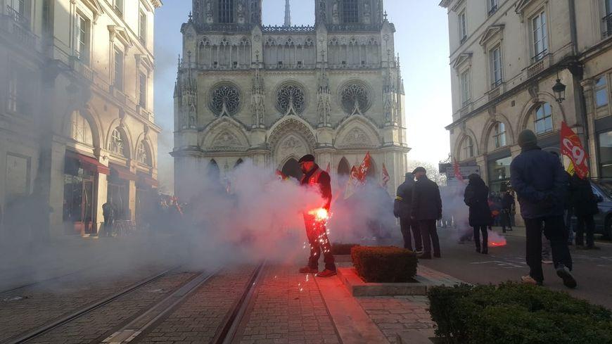 Manifestation des opposants à la réforme des retraites à Orléans, le 24/01/2020