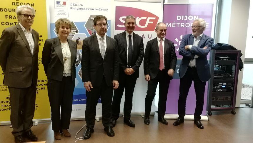 La région, l'Etat, SNCF réseau et Dijon Métropole cofinancent le chantier