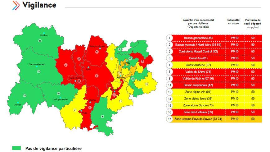 Le bilan de la qualité de l'air en Auvergne-Rhône-Alpes