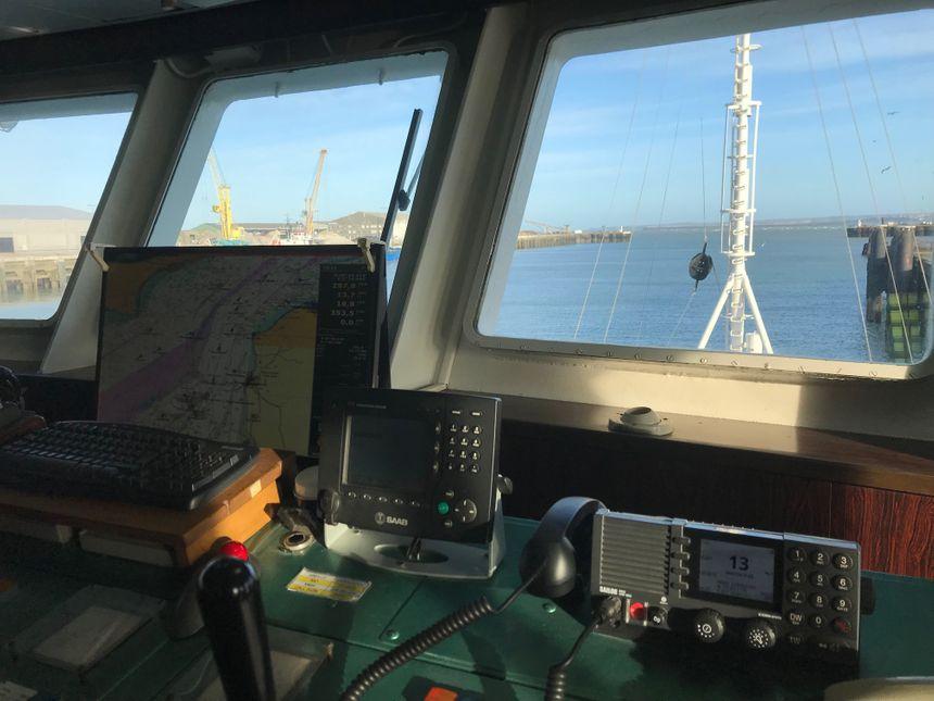 A bord du navire l'Abeille-Languedoc au port de Boulogne-sur-Mer (Pas-de-Calais)