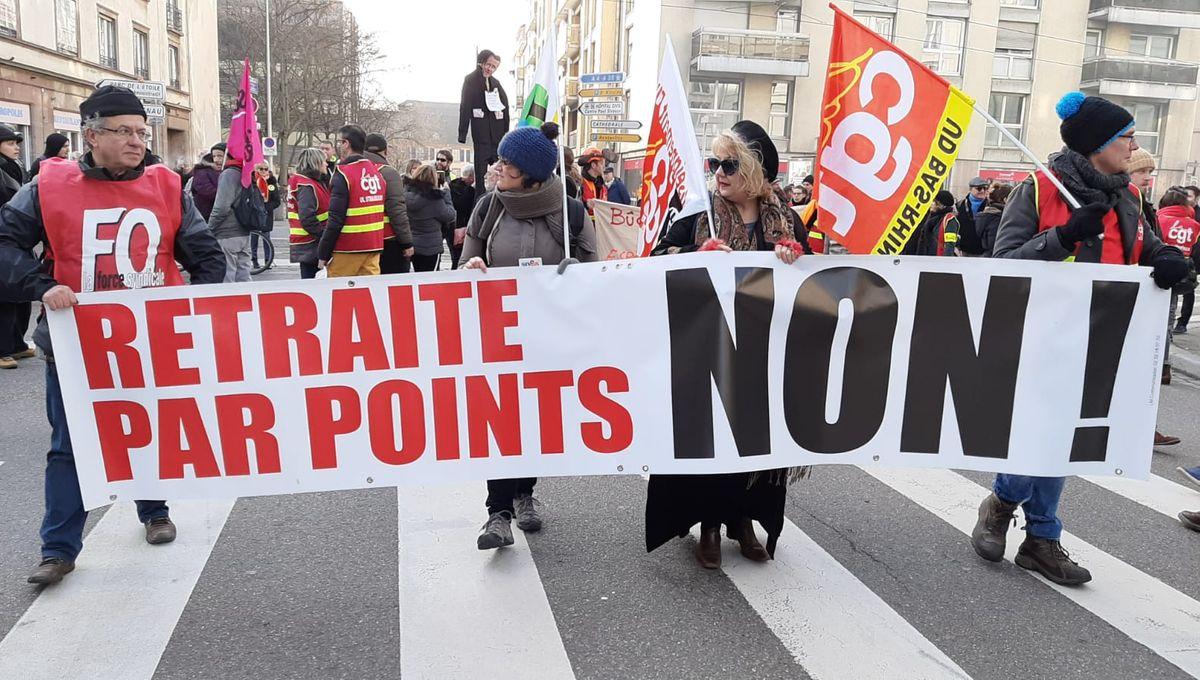 PHOTOS - Strasbourg : plusieurs milliers de manifestants contre la réforme des retraites