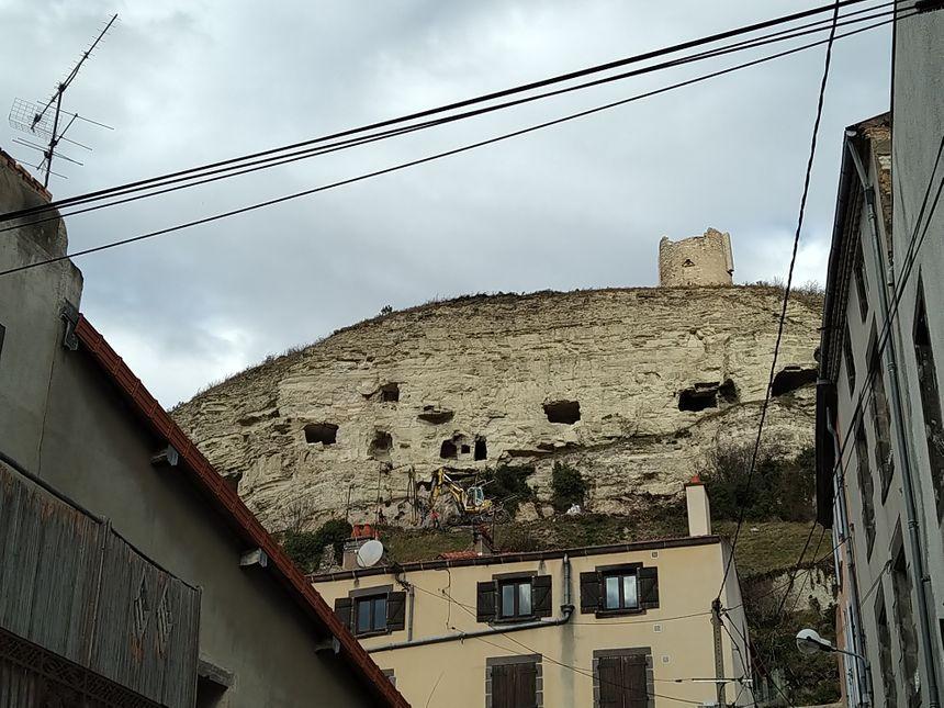 La falaise vue du village de la Roche -Blanche
