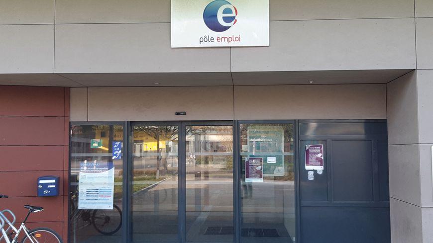 L'agence Pôle Emploi de Thémis à Besançon (Doubs). 2 avril 2019.