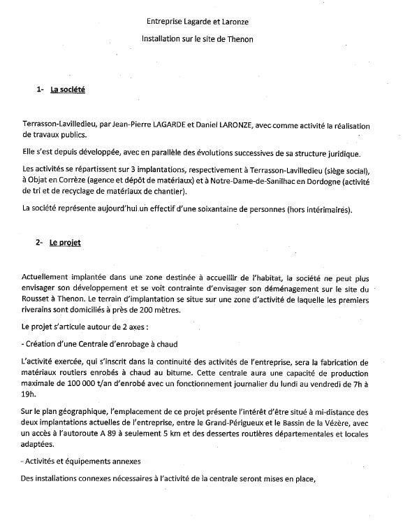 La société Lagarde & Laronze prévoit une production maximale d'enrobé de bitume de 100 000 tonnes par an
