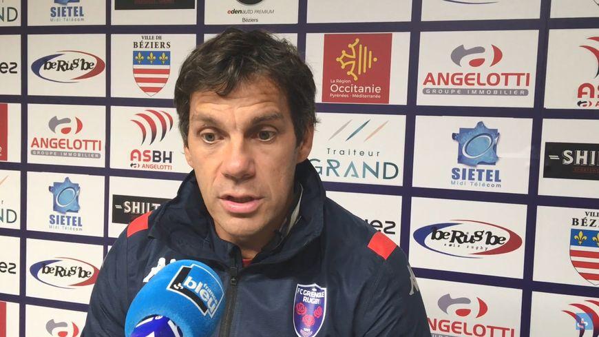 Stéphane Glas, après Béziers-FCG (16-25)
