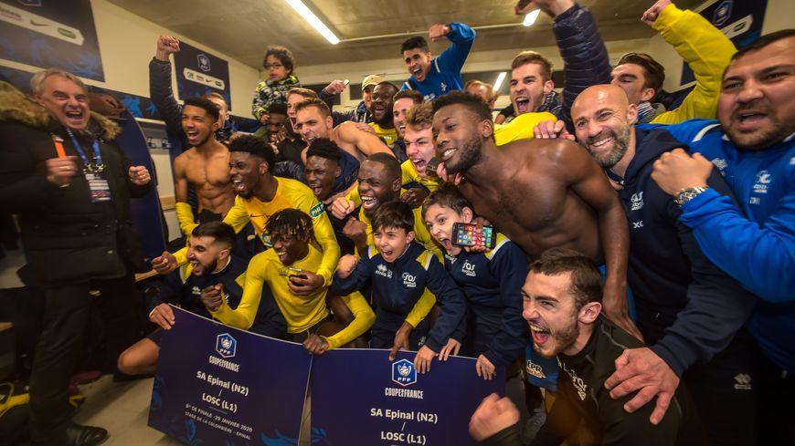 Les joueurs du SAS , encore dans l'euphorie de la qualification, affronteront Saint-Etienne en quarts de finale