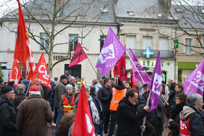 Manifestation intersyndicale contre la réforme des retraites à Châteauroux (29 janvier 2020)