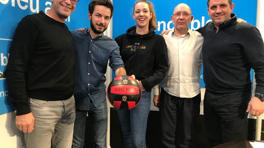 Thierry Crétier (ancien joueur), Maxime Bacquié (journaliste), Lisa Gehan (animatrice), Dominique Poulain (journaliste), Patrice Alberganti (consultant)